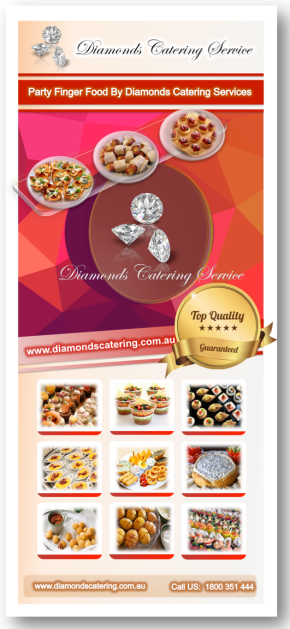 Diamonds catering finger foods